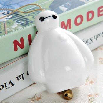【家装】大白陶瓷风铃挂饰一对创意简约摆件